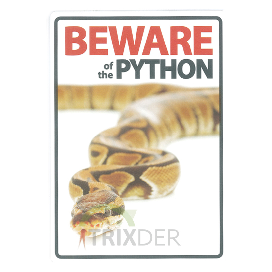 Señal A5 'Beware of the Python', 14.8x21cm