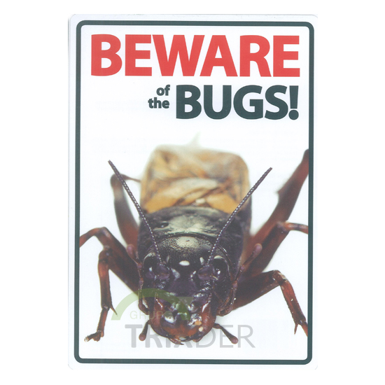 Señal A5 'Beware of the Bugs', 14.8x21cm